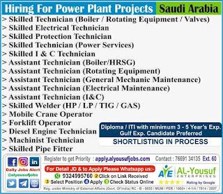 Power Plant Project Jobs in Saudi Arabia