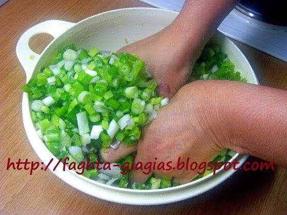 Κρεμμυδόπιτα με χλωρά κρεμμύδια - Τα φαγητά της γιαγιάς