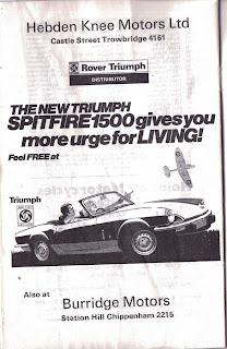 Hebden Knee Motors Ltd, advert from 18 May 1975
