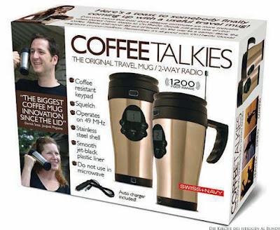 Witzige dumme Erfindungen - Kaffeebecher mit Funkgerät