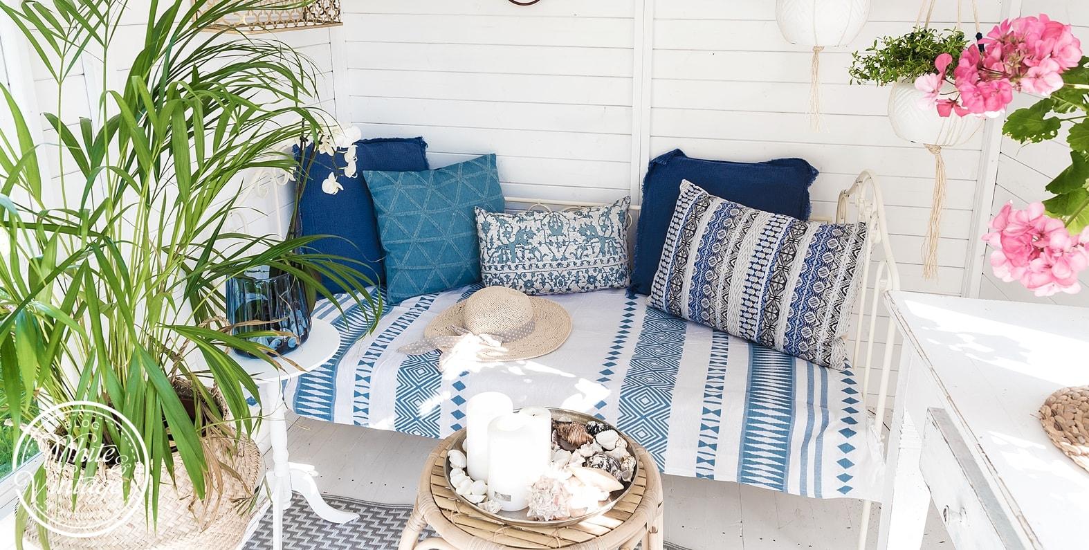 Sommerlich dekorieren in Blau - Weiß