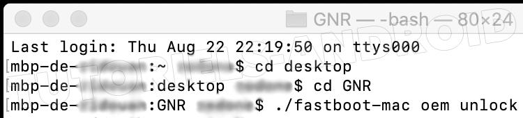 GT-I9250 : fastboot-mac oem unlock