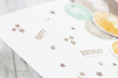 Stampin' Up Balon Builders; Stampinup Geburtstagskarte; Matchthesketch; Stempel-Biene; Stampinup Rabatte; Stampinup Katalog 2016-2017