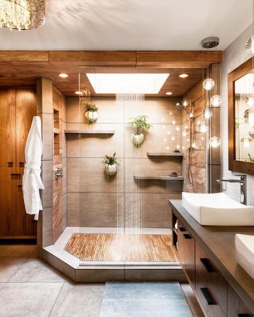 แบบห้องน้ำตกแต่งธรรมชาติเล็กๆ