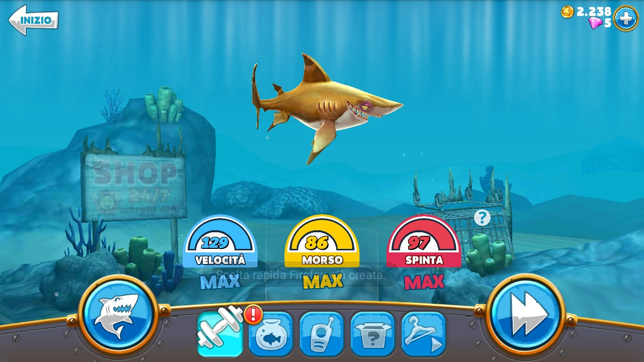 Trucchi hungry shark android