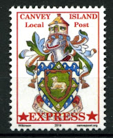 Canvey Local Post Coat of Arms Express Mail Stamp
