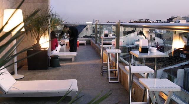 La terraza del Urban, azotea.