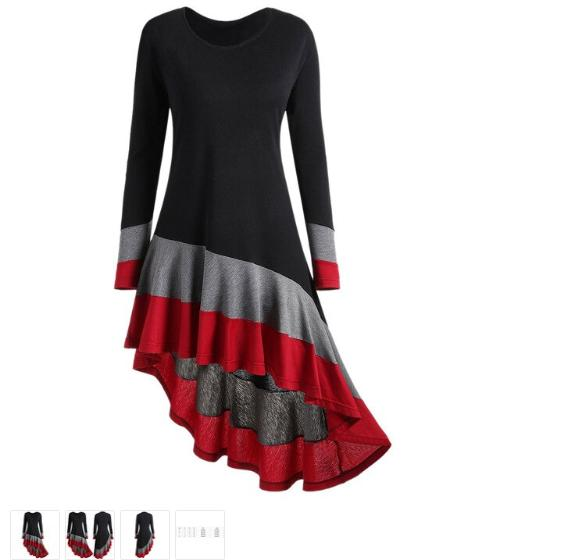 Where To Buy Cheap Designer Clothes - Ladies Tops Clearance Sale - Maroon Long Sleeve Short Dress