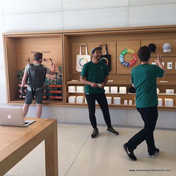 Apple store at Apple Park Visitor Center in Cupertino, California