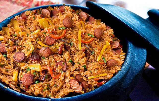 Sausage, Pepper and Rice Skillet #easy #dinner