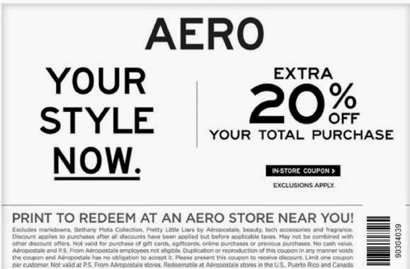 Lively Aeropostale Printable Coupons Tyrone Blog