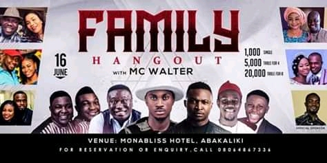 Funny Bone, Nigga Raw And Other Shutdown Abakaliki For MC Walter's Family Hangout Show