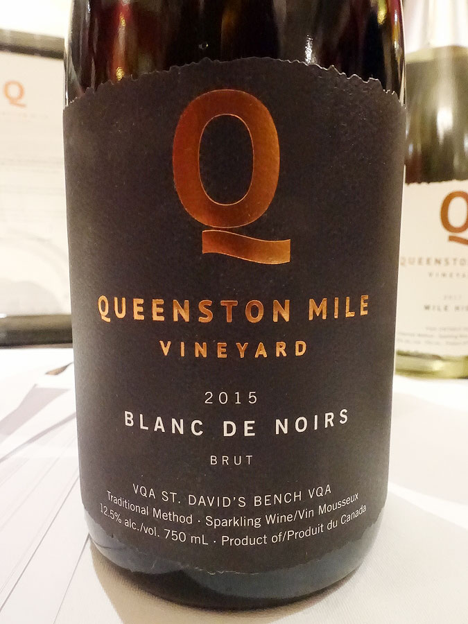 Queenston Mile Vineyard Blanc de Noirs 2015 (91+ pts)