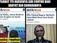 """Jokowi Mudik ke Solo Pakai """"Kendaraan Dinas"""" Pesawat Kepresidenan, KPK Sariawan?"""