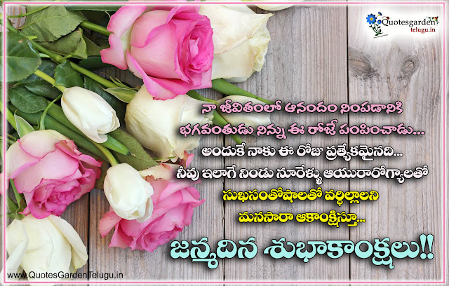 special birthday wishes for wife in telugu