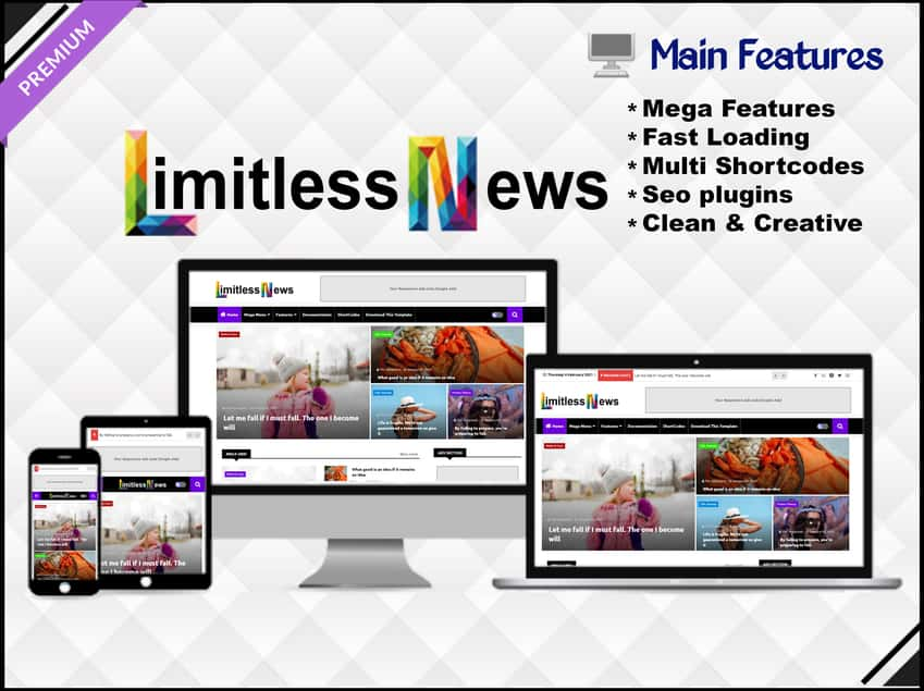 Limitless News Blogger Template