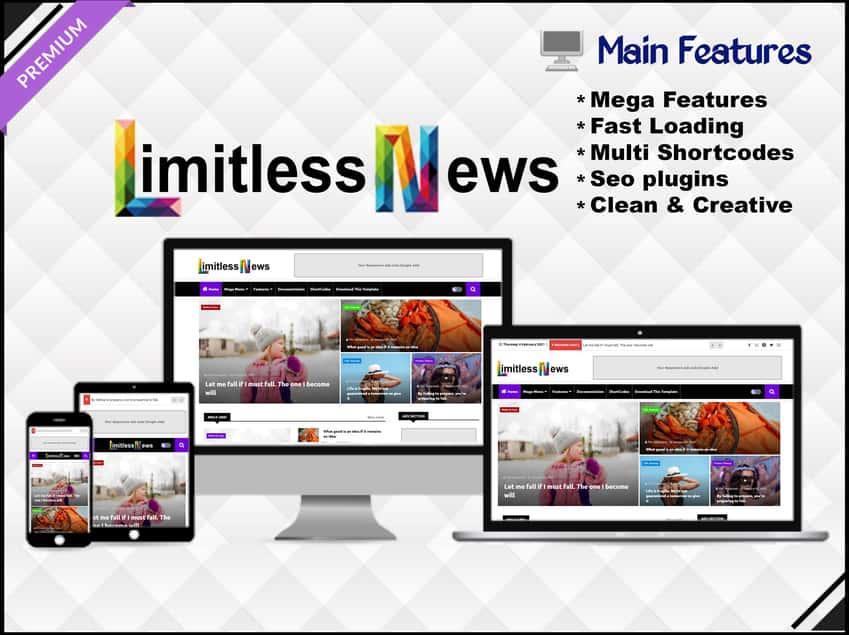 Limitless News blogger template