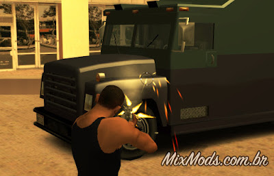 gta sa san mod stronger cars carros mais fortes securicar