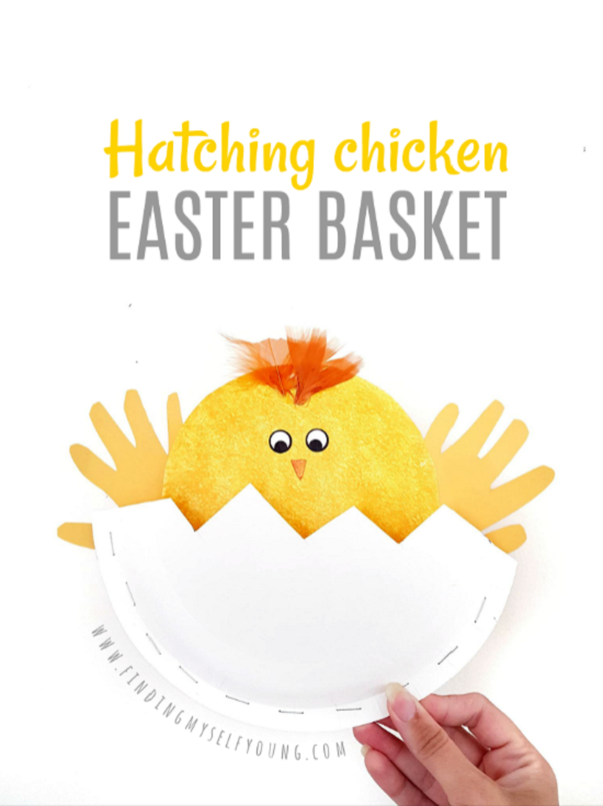 hatching chicken easter basket by finding myself young