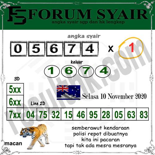 Forum Syair Sidney Selasa 10 November 2020