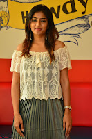 Eesha in a cute deep neck top and Skirt at at Big FM 074.JPG