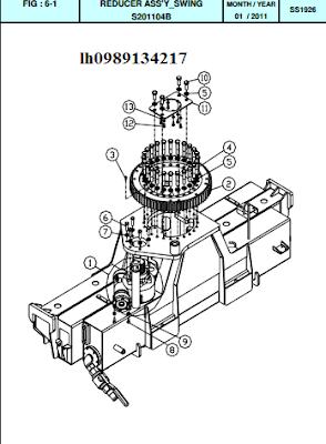 Hệ thống quay toa cẩu thủy lực Dong Yang SS1924-SS1926