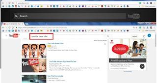 use the fluke youtube trick
