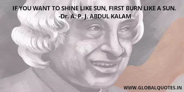 If you want to shine like the sun, first burn like a sun.