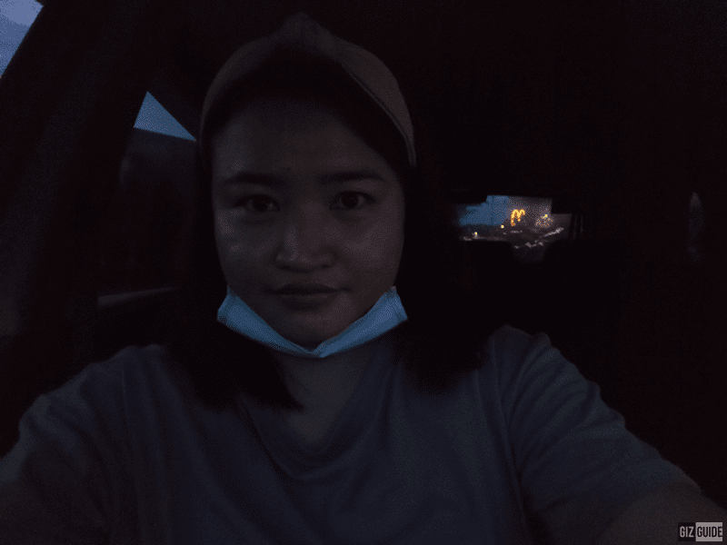 Lowlight selfie without flash