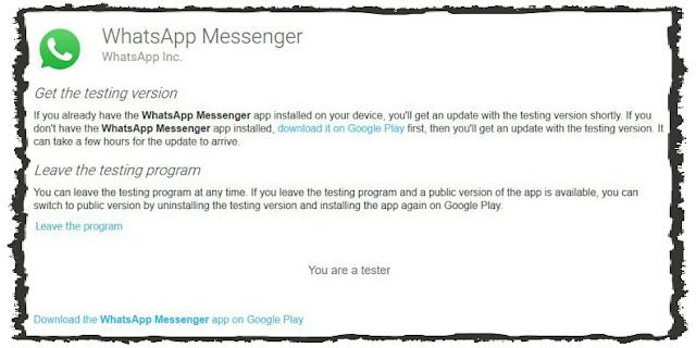Tester Untuk Mencoba Fitur Baru Pada WhatsApp
