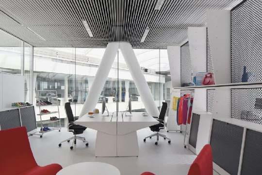 Interior Design Ideas Adidas Office Interior With Large Glass Windows