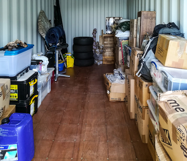Photo of some of our stuff in the new container