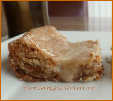 Orange Glazed Cinnamon Oatmeal Bars   recipe developed by www.BakingInATornado.com   #recipe #dessert