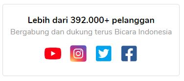 Sosial Media Bicara Indonesia