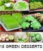 15 GREEN THAI DESSERTS