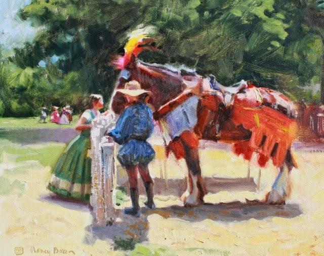 Под влиянием традиционных художников. Nancy Boren
