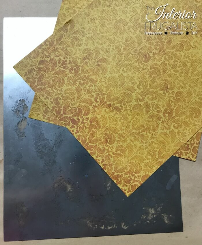 Fall Aged Mirror Scrapbook Paper
