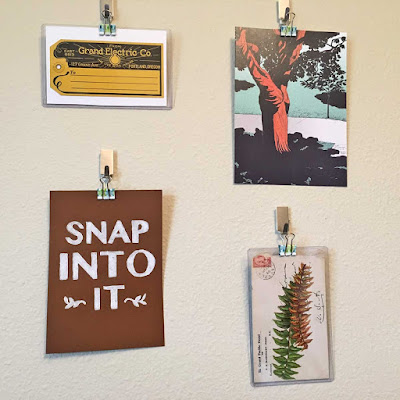 How to Hang Art and Ephemera the No-Commitment way on The Cedar Chest Blog