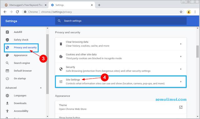 cara menonaktifkan notifikasi google chrome pc