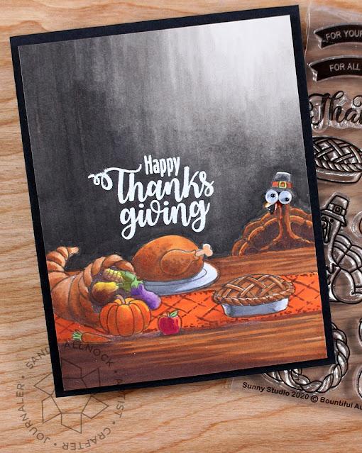 Sunny Studio Stamps: Bountiful Autumn Customer Card by Sandy Allnock