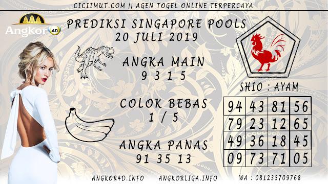 PREDIKSI SINGAPORE POOLS 20 JULI 2019