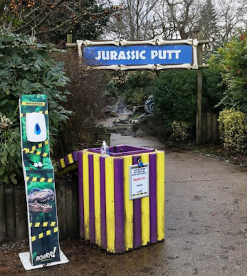 Jurassic Putt Crazy Golf at Roarr! Dinosaur Adventure in Lenwade, Norwich