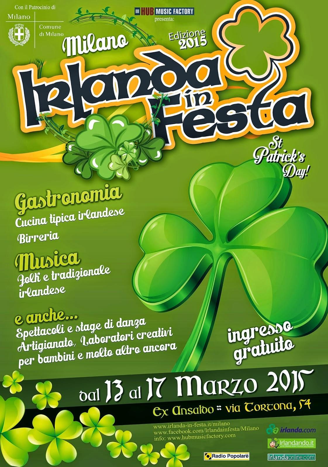 Irlanda in Festa dal 13 al 17 Marzo Milano