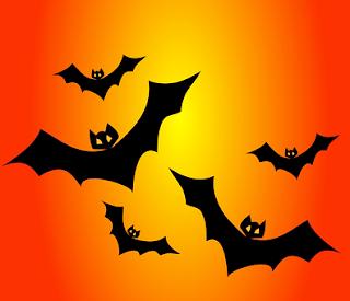 Halloween Horrifying bats