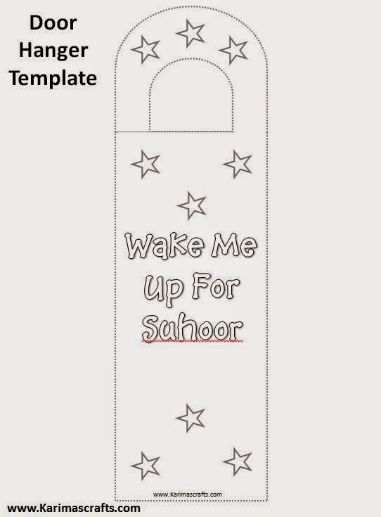 muslim will template - karima 39 s crafts islamic doorknob hangers 30 days of