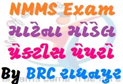 NMMS Model Practice Papers With Answer Year-2020 In Gujarati By BRC Radhanpur
