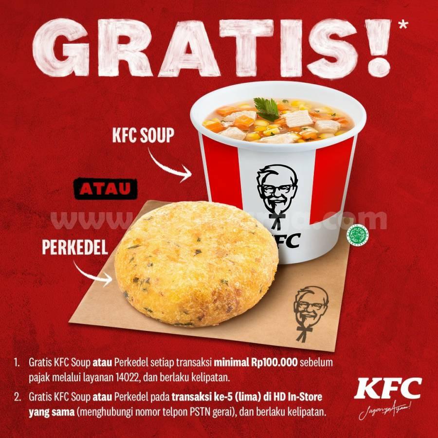 Promo KFC Terbaru - GRATIS KFC SOUP atau PERKEDEL