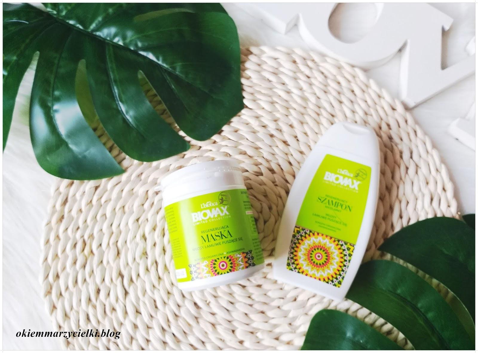 Regenerujący szampon micelarny & Regenerująca maska (Konopia Organiczna, Ashwagandha), L'biotica Biovax-recenzja #127