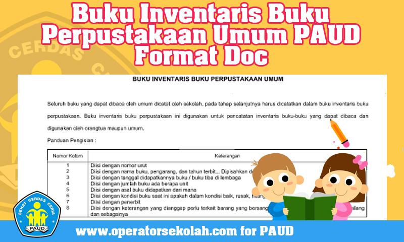Download Contoh Buku Inventaris Buku Perpustakaan Umum PAUD Format Doc