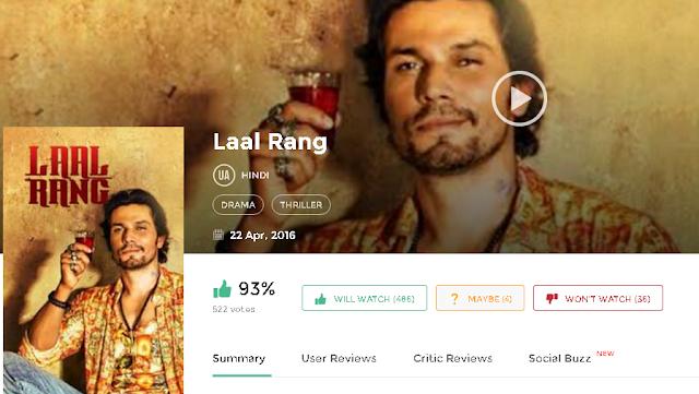 Laal Rang 2016 Hindi Full Movie in 3gp Mp4 hq hd Avi 720p Free Download